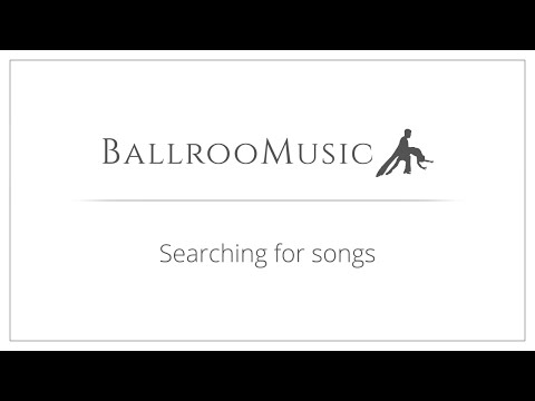 Searching for songs on BallrooMusic