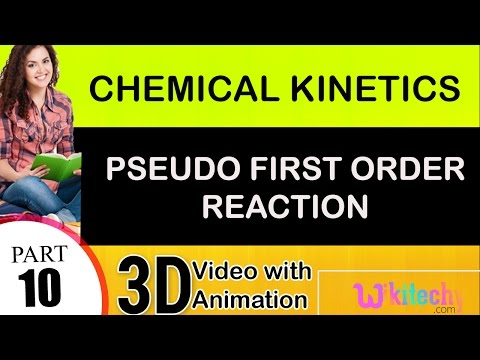 pseudo first order reaction chemical kinetics 2 class 12 chemistry subject notes cbse