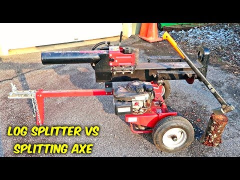 Hydraulic Log Splitter vs Splitting Axe
