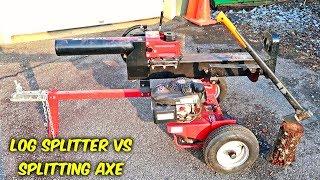 Hydraulic Log Splitter vs Splitting Axe
