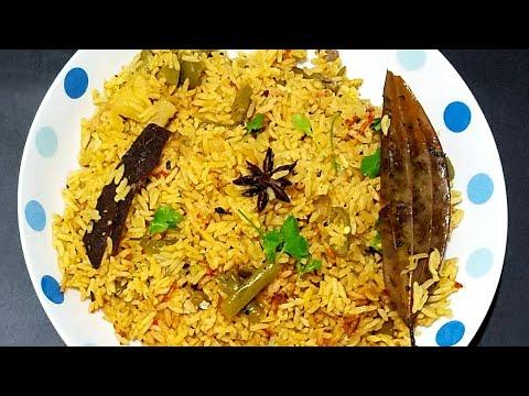 Vegetable biryani in rice cooker | veg biryani | veg pulao | easy recipe | bachelor's recipe