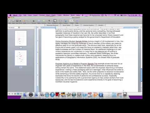 How to Add Page Numbers to Word 2008 for Mac