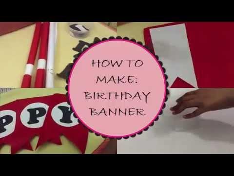 DIY: How To Make Birthday Banner