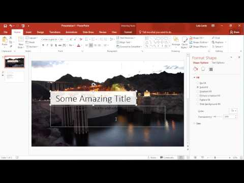 Quick Tip: Microsoft PowerPoint: Transparent Fill