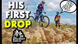 HELPING A FRIEND CONQUER HIS FIRST DROP  // The Singletrack Sampler