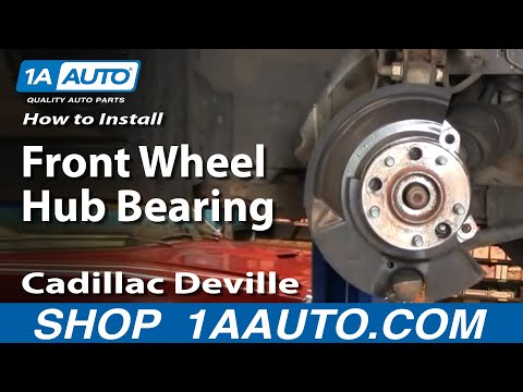 How To Install Replace Front Wheel Hub Bearing Cadillac Deville 97-99 Part 1 1AAuto.com