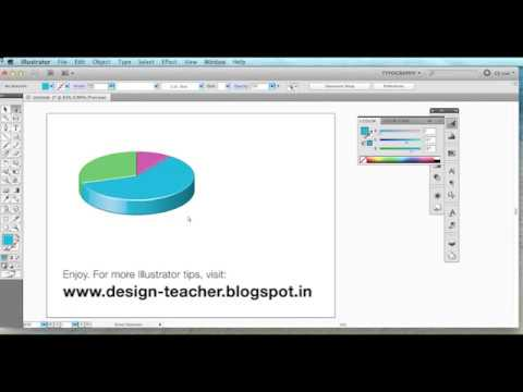 Stunning 3D pie charts in Adobe Illustrator - HD