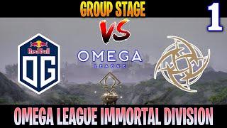 OG vs NiP Game 1 | Bo3 | Groupstage OMEGA League Immortal Division | DOTA 2 LIVE