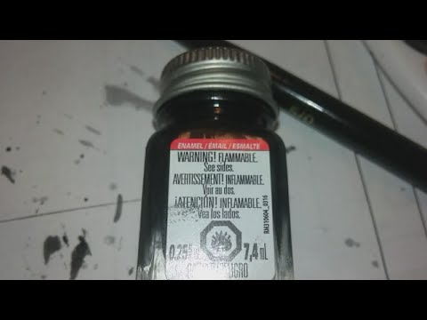 How to use Testors enamel paint!