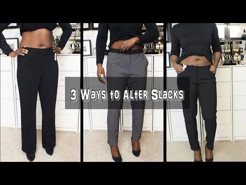 3 Ways to Alter Slacks (Weightloss Alterations)