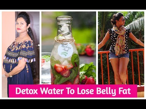 DIY Detox Water To Lose Belly Fat | How I Lost My Pregnancy Weight | Sushmita's Diaries