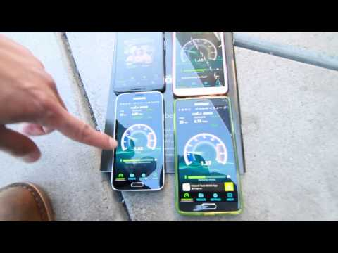 CES 2015 4G LTE Speed Test AT&T, T-Mobile, Verizon, Sprint