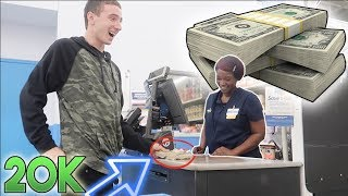 USING FAKE 20,000 DOLLARS AT WALMART! (ILLEGAL)