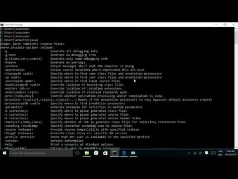 How to Install Java and Set PATH CLASSPATH JAVAHOME environment on Windows 10 variables