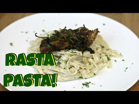 Jerk Chicken Alfredo - The BEST Rasta Pasta!!!