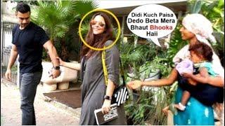 Neha Dhupia's Shameless Behavior IGNORES Beggar Asking For FOOD