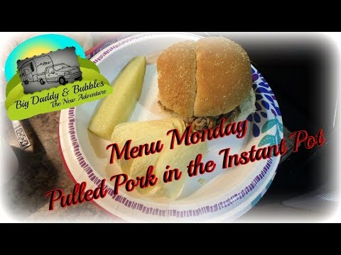 Menu Monday - Pulled Pork in the Instant Pot
