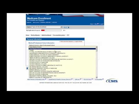 PECOS Enrollment Tutorial – Initial Enrollment for an Individual Provider