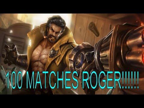 100 MATCHES ROGER MONTAGE!!!- Mobile Legends Montage