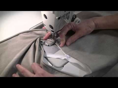 How to sew a pillow with piping and zipper