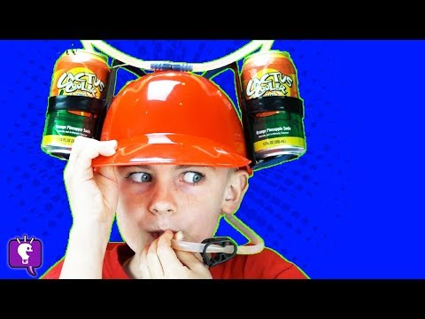DRINK HAT and STRAW GLASSES Toy Review with HobbyKidsTV