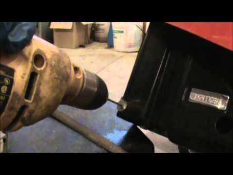 How to drill out a broken bolt