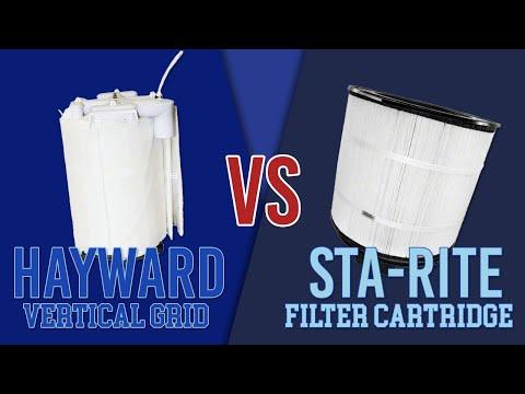 The Difference Between Sta-Rite's DE Filter Cartridge vs. Hayward's Vertical Grid DE