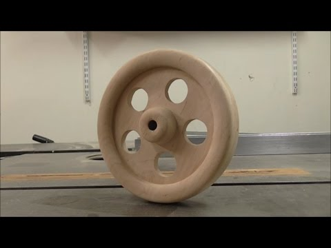 Making a wooden air engine - part 5 of 10 - Flywheel