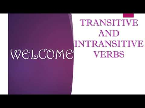 Transitive and Intransitive Verbs - Difference  (Types of Verb)