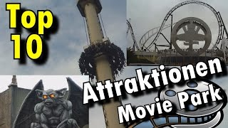 Top 10 Attraktionen Movie Park Germany