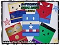 HOW TO MAKE SUPER HERO CARDS