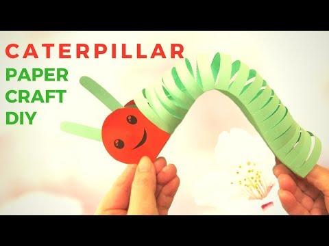 How to make 3D Caterpillar ! Paper Craft Ideas!- Hand made