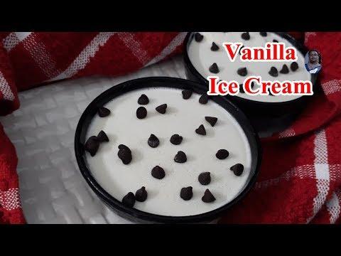Vanilla Ice Cream | Without Cream And Condensed Milk | Homemade Egg Less Ice Cream |ENGLISH SUBTITLE