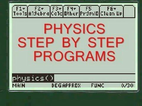 Angular Acceleration Calculator | TI 89 Program | Every Step Physics