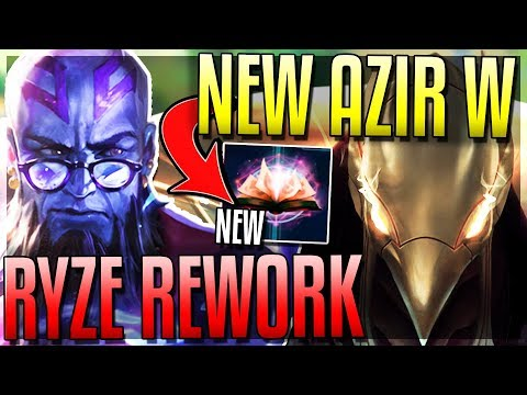 RYZE DOES TRUE DMG NOW!? NEW AZIR W! HUGE Mana Changes & More! New 8.9 Changes - League of Legends