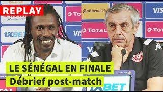 REPLAY - CAN-2019   Sénégal-Tunisie: conférence de presse post-match de Cissé et Giresse