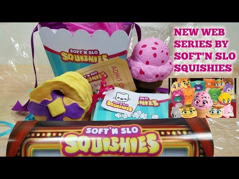 Soft N Slo Squishies Night at the Movies New Animated Web Series Toy Unboxing~Kawaii Squishies