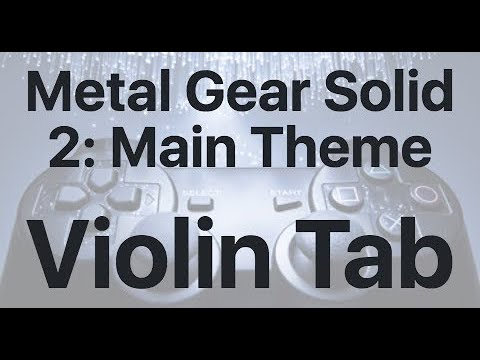 Learn Metal Gear Solid 2: Main Theme on Violin - How to Play Tutorial