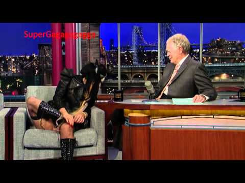 Lady Gaga David Letterman Funny Interview