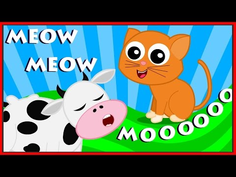 Animal Sound Song | Learn Animals | Nursery Rhymes For Kids | Childrens Song | Kids Tv Cartoons