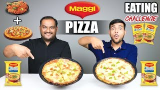 MAGGI PIZZA EATING CHALLENGE | Maggi Noodles Pizza Eating Competition | Food Challenge