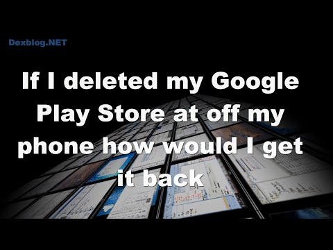 If I deleted my Google Play Store at off my phone how would I get it back