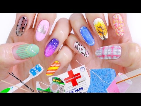 10 Nail Art Designs Using HOUSEHOLD ITEMS!   The Ultimate Guide #2