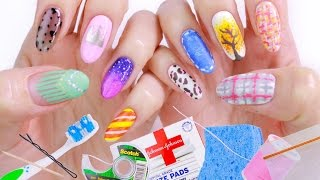 10 Nail Art Designs Using Household Items: The Ultimate Guide #2!