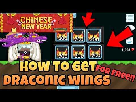 HOW TO GET DRACONIC WINGS FOR FREE (LIMITED TIME) | Growtopia