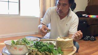 Don't say Don't Talk Eating Shrimp Larb (Lao Food) Mukbang | Home Made By Kaysone