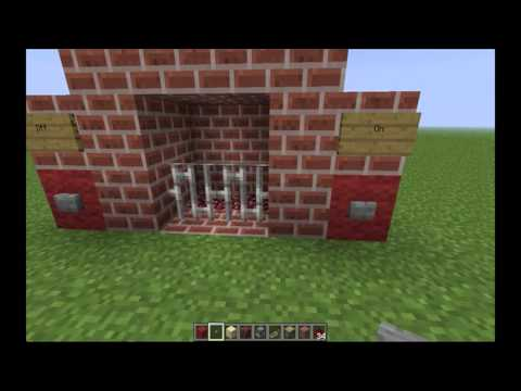 Minecraft - How to Make an Automatic Fireplace
