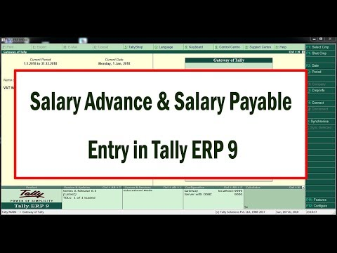 How to Enter Salary and Salary Advance Entries in Tally ERP9