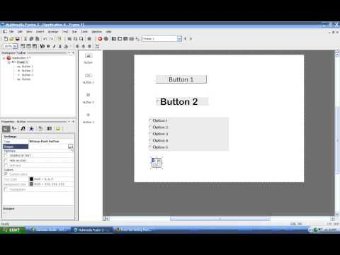MMF2 Video Tutorial 11 - Bitmap Push Button