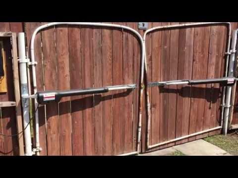(bad audio) Mighty Mule 502 Dual Swing Gate Opener Quick Look